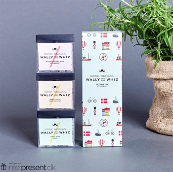 Wally & Whiz Denmark Box - 3 x vingummi